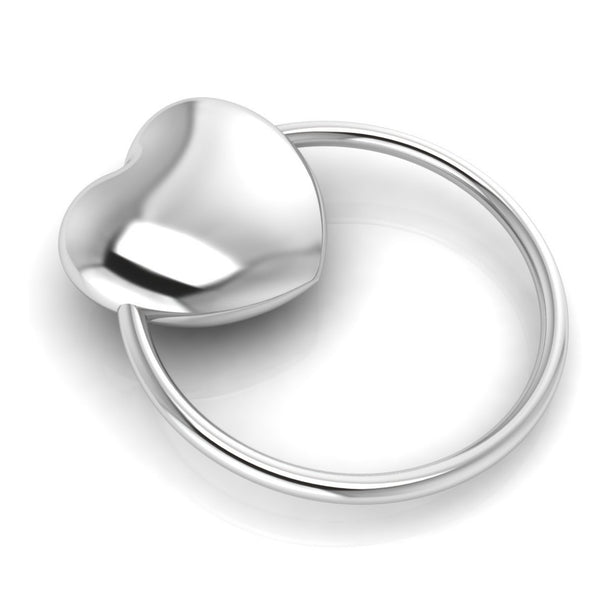 Sterling Silver Heart Ring Baby Rattle