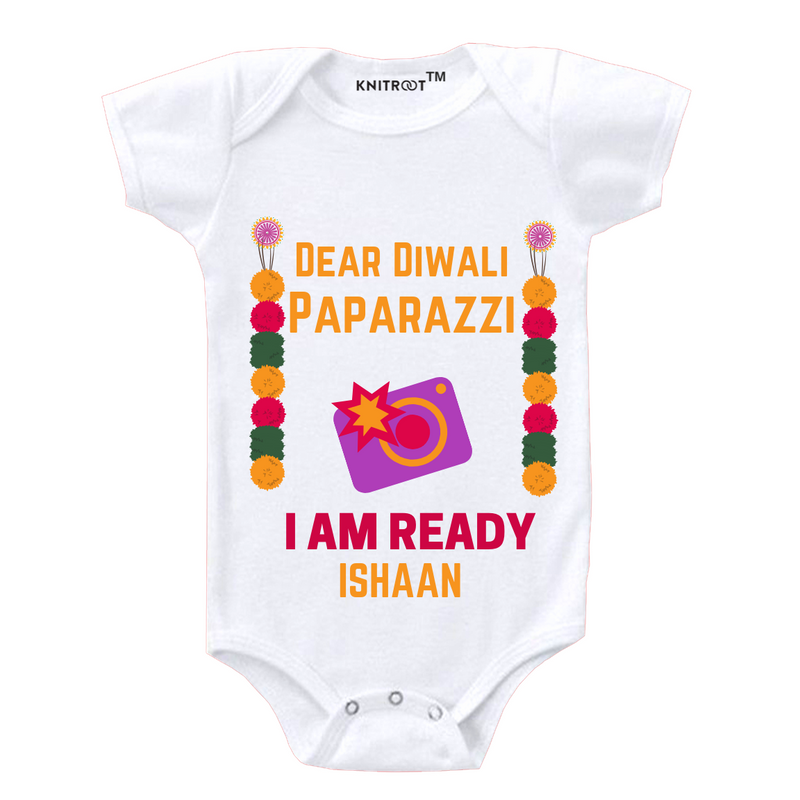 Diwali Paparazzi Personalized Onesie themumsshop