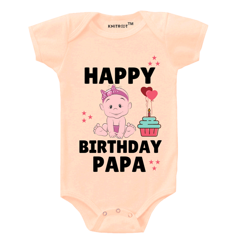 Happy Birthday Papa 2 Onesie themumsshop