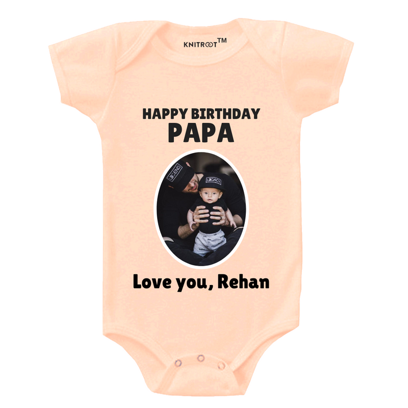Happy Birthday Papa 3 Onesie themumsshop