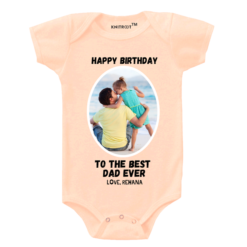 Happy Birthday Best Dad Onesie themumsshop