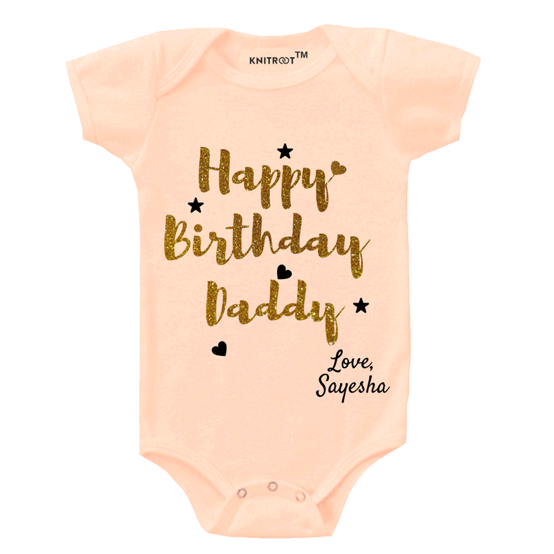Glitter Happy Birthday Daddy Onesie themumsshop