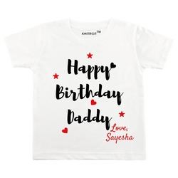 Happy Birthday Daddy Red Star Personalized Tshirt themumsshop