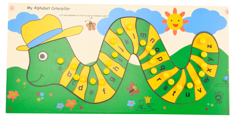 My Alphabet Caterpillar Lower and Capital Alphabets-Toys-THE MUM SHOP