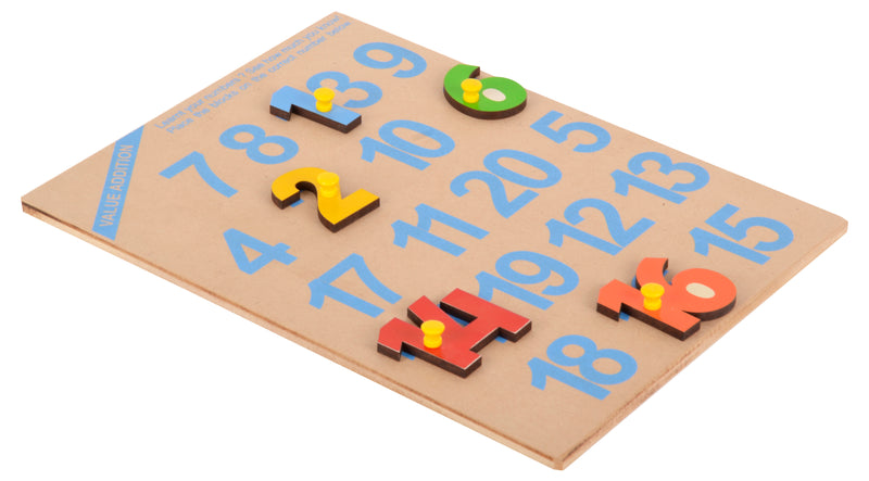 1-20 Number Shape Tray (With Knobs)