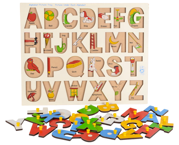 Alphabet Picture Tray (With Knobs)-Toys-THE MUM SHOP