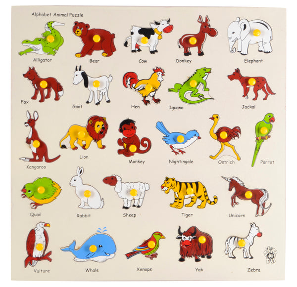 Animal Alphabet Tray (With Knobs)-Toys-THE MUM SHOP