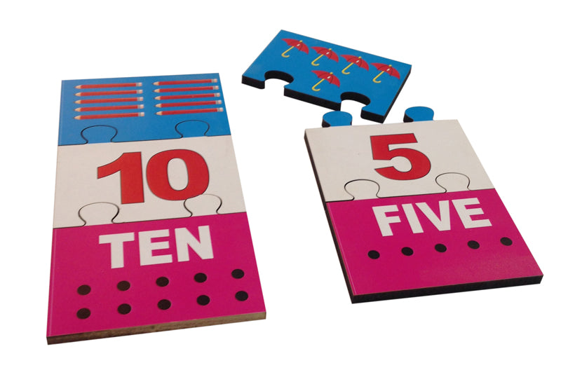 Number Picture Matching Puzzle Strips-Toys-THE MUM SHOP