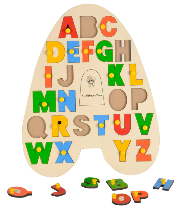 'A' Alphabet Tray (With Knobs)