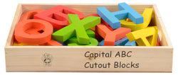 Capital ABC Cutout Block (A-Z) (in wooden box) Colored-Toys-THE MUM SHOP