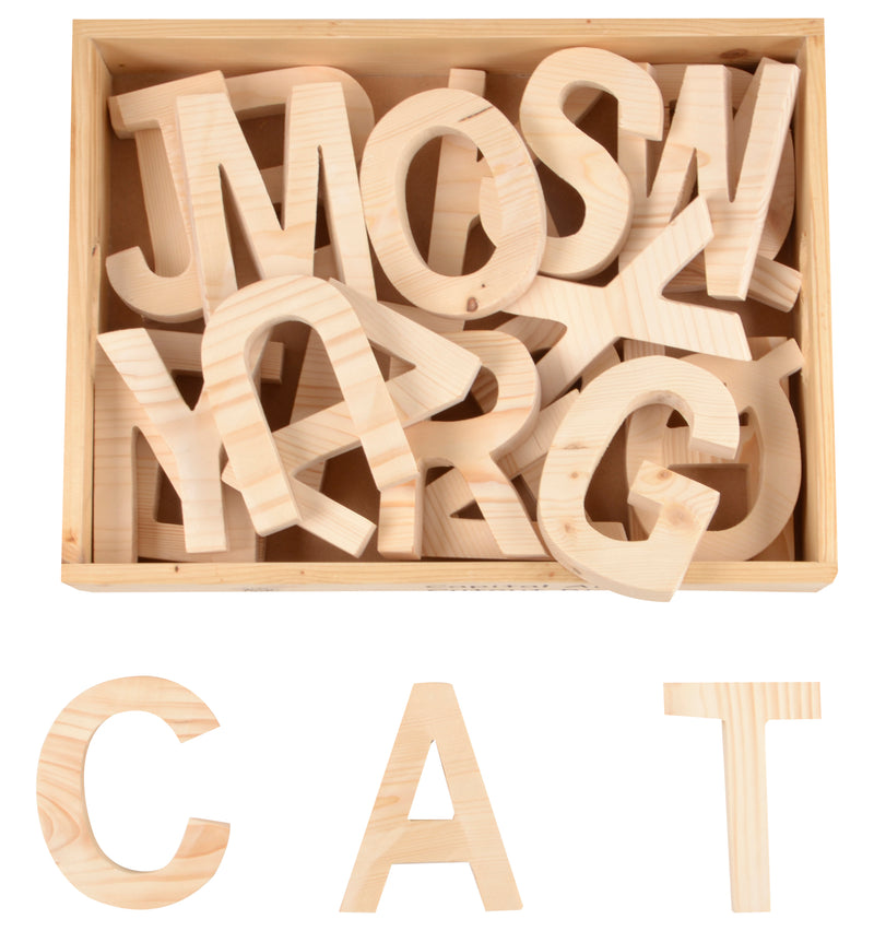 Capital ABC Cutout Block (A-Z) (in wooden box)-Toys-THE MUM SHOP
