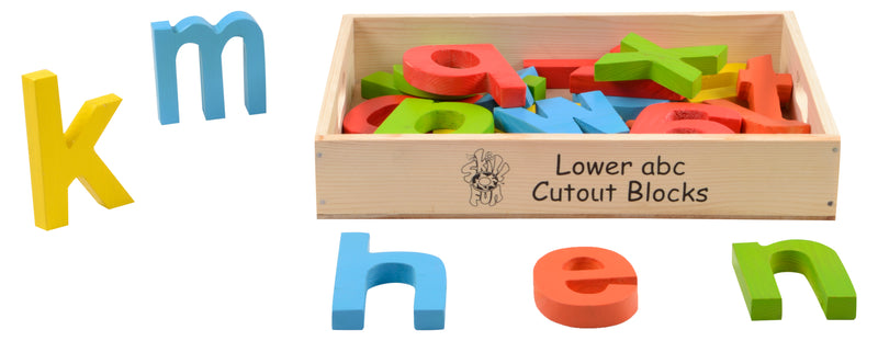 Lower abc Cutout Block (az) (in wooden box) Colored-Toys-THE MUM SHOP