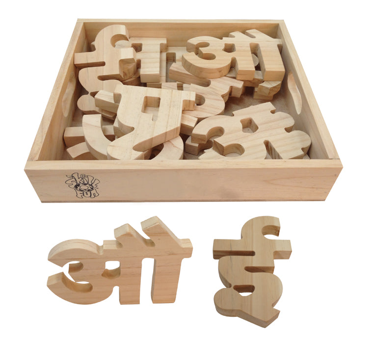 Hindi Vowel Cutout Block (Aa Aaa)-Toys-THE MUM SHOP