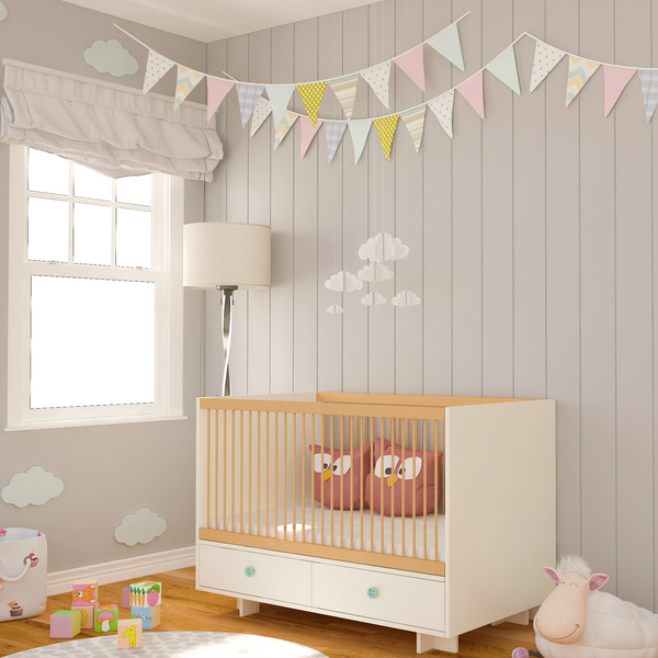 Elegant Light Crib with 2 Drawers -Baby Cot
