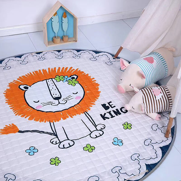 The king Lion Soft Play Mat & drawstring bag | Toy Organiser