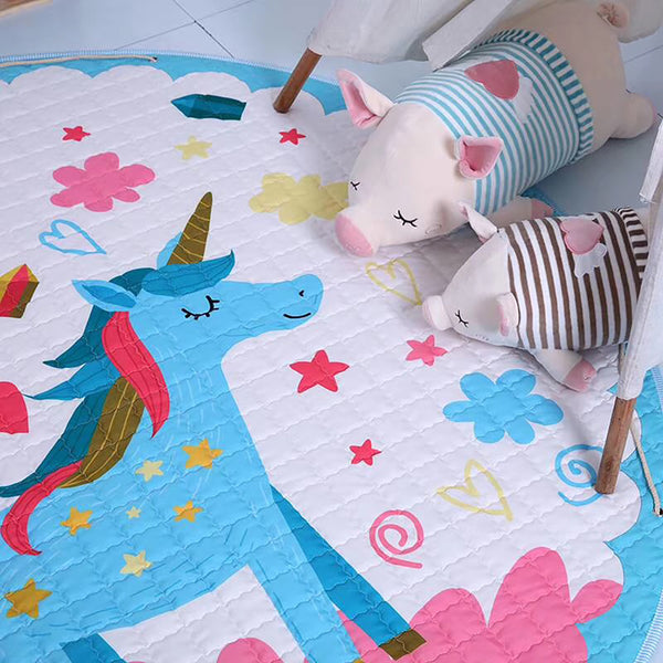 Magical Unicorn Baby Soft Play Mat & drawstring mat | Toy Organiser