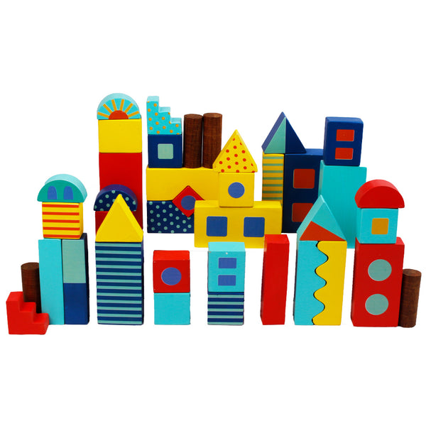 Around Town Building Blocks - Big Size 40 pcs | Wooden Toys
