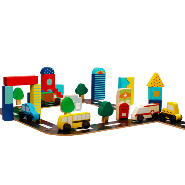 Building Around Town - 68 pcs | Wooden Toys