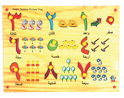 Arabic Number with Picture Tray (1-10)-Toys-THE MUM SHOP