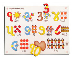 Gujarati Numbers with Picture Tray-Toys-THE MUM SHOP