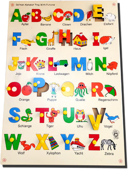 German Alphabet with Picture Tray-Toys-THE MUM SHOP