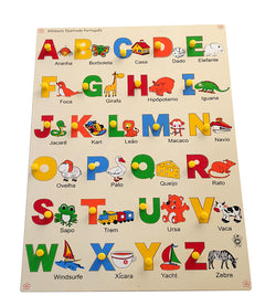 Portuguese Alphabet with Picture Tray-Toys-THE MUM SHOP