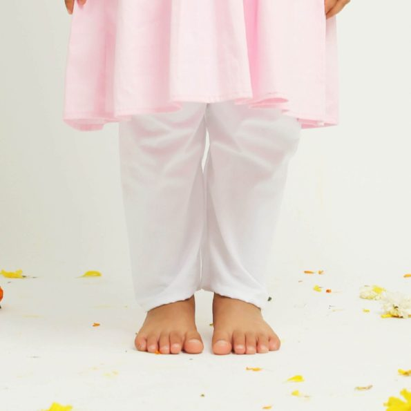Pink Diwali Personalised Kurta Pajama | Girls Indian Wear