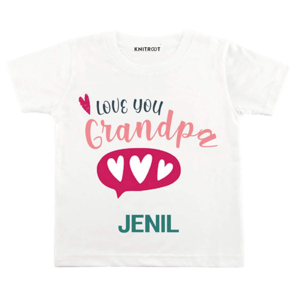 Love You Grandpa Baby Wear | Personalised Tshirt