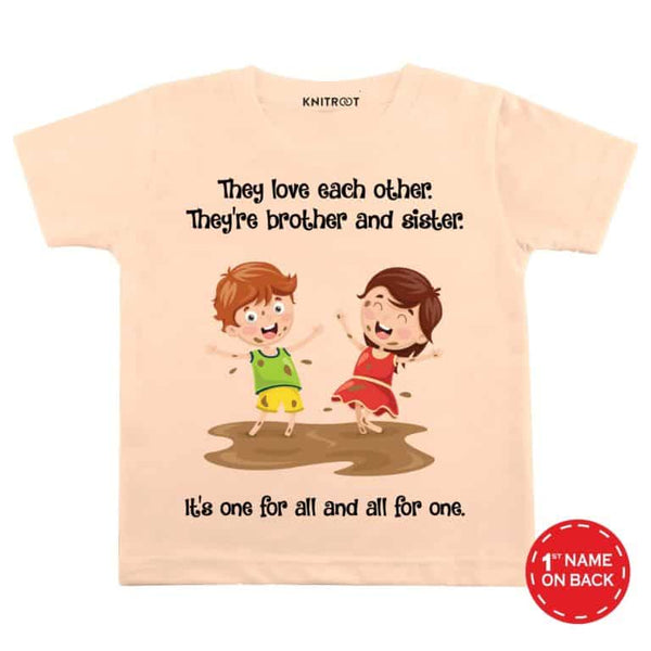 Brother & Sisiter 1 - Personalised Tshirt