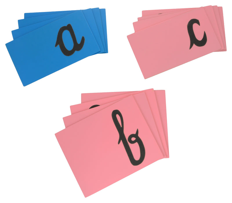 Sand Paper Alphabets (Lower abc Cursive)-Toys-THE MUM SHOP