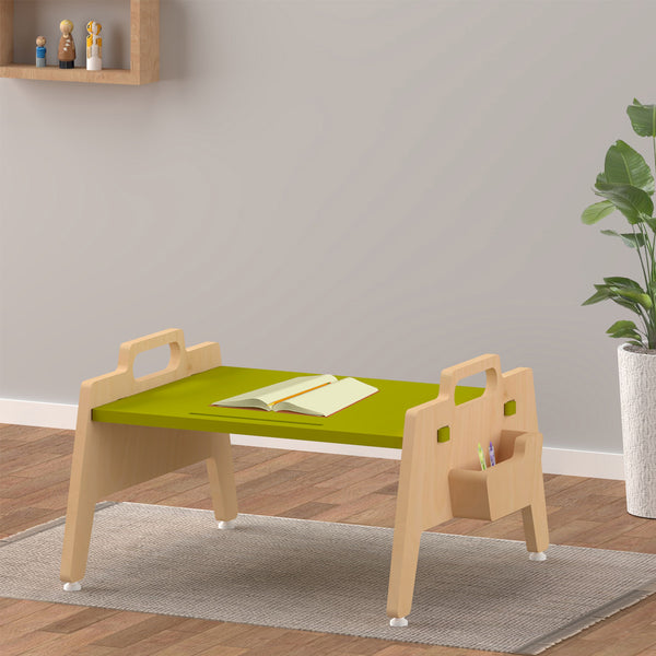 Kids Furniture Low Study & Play Table - Green age 2-9 years
