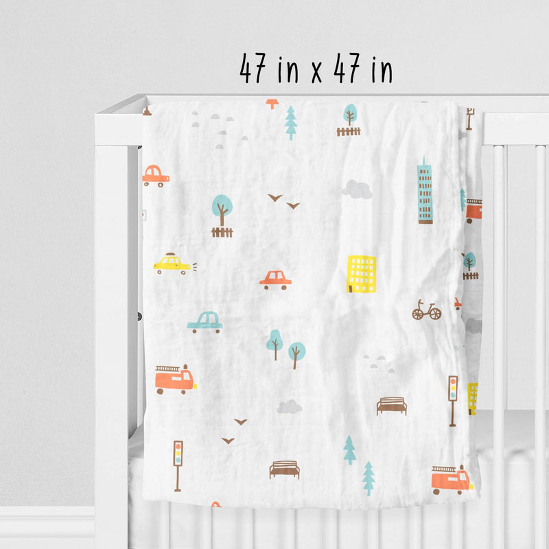 Rabitat Bamboo Swaddle Pamper (City Lights) | Baby Swaddles