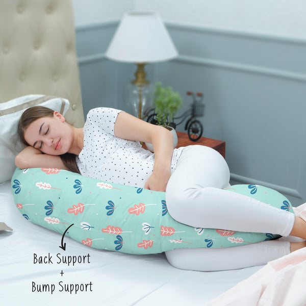 Rabitat Duo Motherhood Multi Function Pillow, Pregnancy Pillow+Feeding Pillow - Greenwell