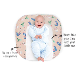 Rabitat Snooze Baby Lounger (With waterproof protection) - Grand Llama