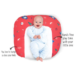 Rabitat Snooze Baby Lounger (With waterproof protection) - Arctic Woodland