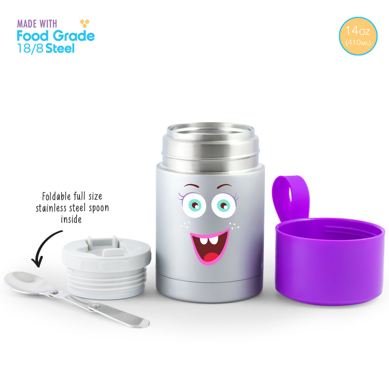 Rabitat Insulated Food Jar with cutleries - Miss Butter | Kids Lunch Bag/Box
