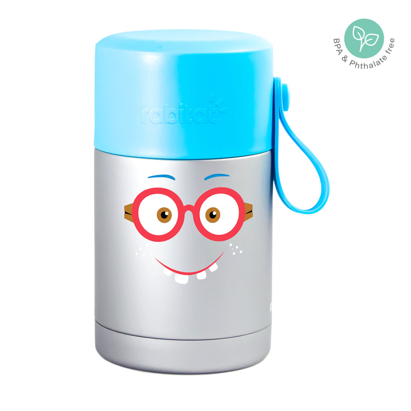 Rabitat Insulated Food Jar with cutleries - Shyguy | Kids Lunch Bag/Box