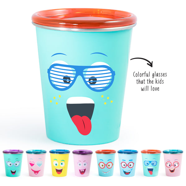 Rabitat Spill Free Stainless Steel Cup - Spunky | Kids Cups+Bottles