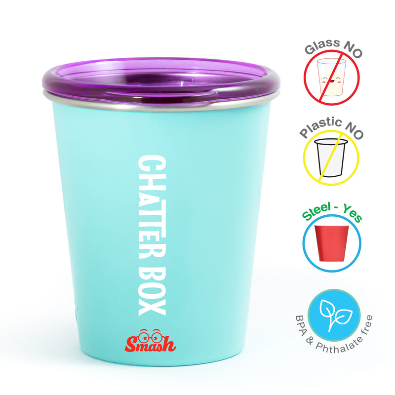 Rabitat Spill Free Stainless Steel Cup - Chatter Box | Kids Cups+Bottles