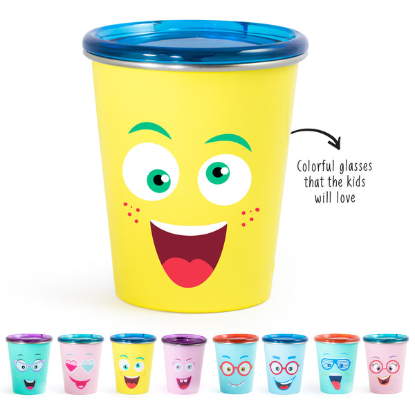 Rabitat Spill Free Stainless Steel Cup - Mad Eye | Kids Cups+Bottles