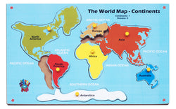 The World Map – Continents | Puzzles & Games