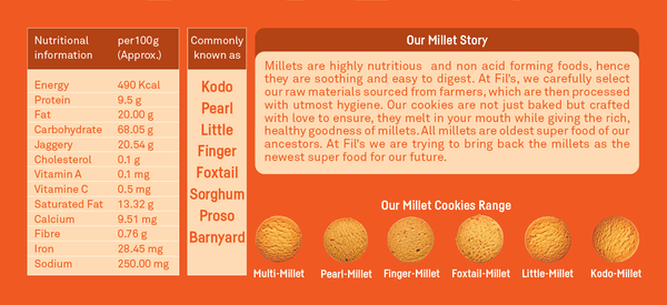 Multi Millet Cookies-Food Items-THE MUM SHOP