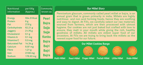 Pearl Millet Cookies-Food Items-THE MUM SHOP