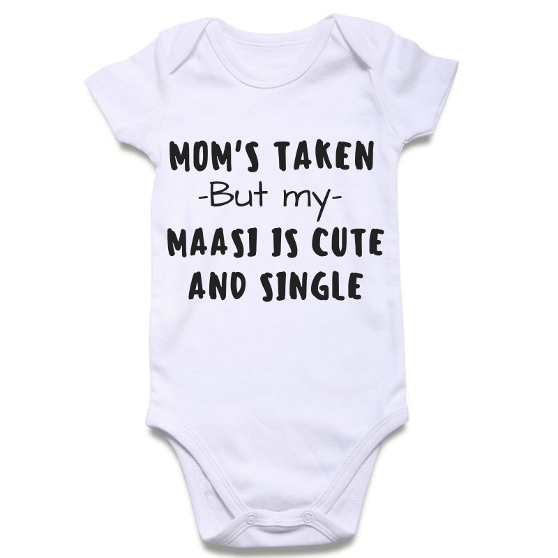Masi is Cute & Single | Personalised Baby Onesie
