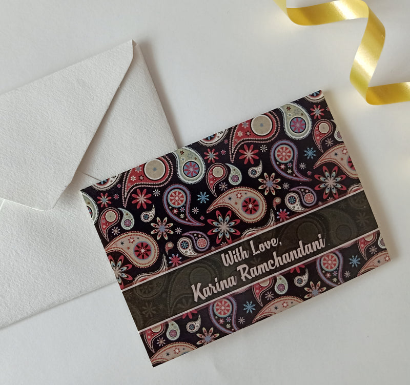 Personalised Gift Notecards - Paisley