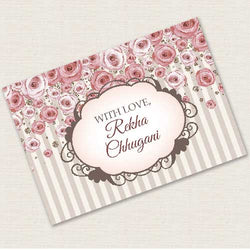 Personalised Gift Notecards - Vintage Rose