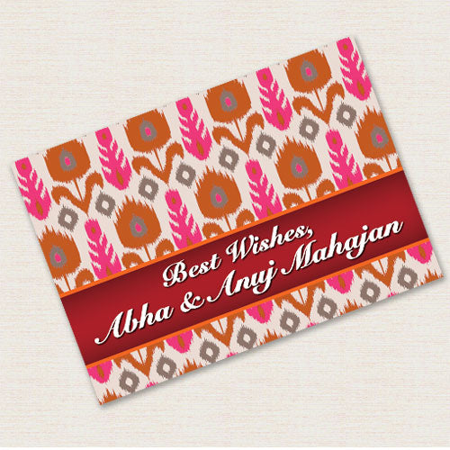 Gift Notecards Personalised - Ikat