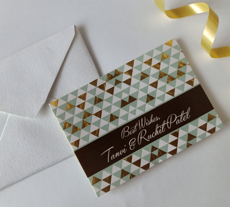 Personalised Gift Notecards - Geometry