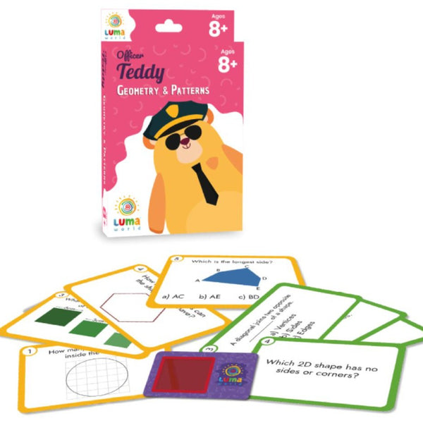 Officer Teddy : Flash Cards with Magic Glass - Game & Toys - Age 8+ Years