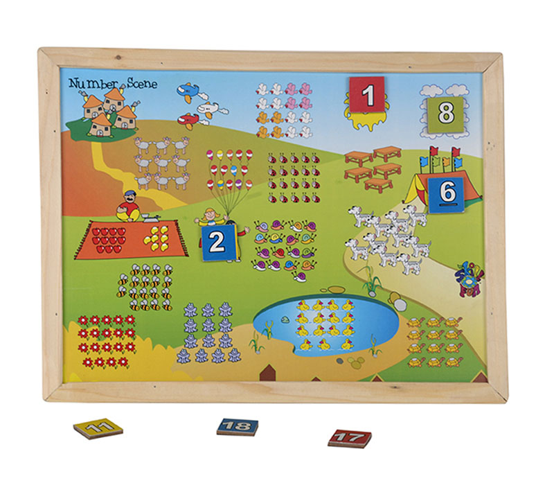 Magnetic Twin Play Tray – Number Scene (1-20) | Puzzles & Games